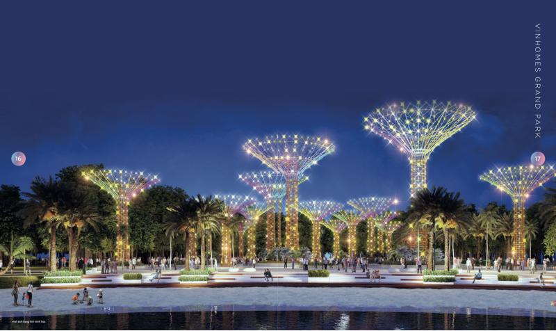 Hệ thống cây ánh sáng VinHomes Grand Park